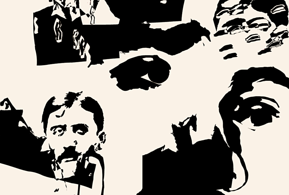 But to return to my own case, ... (self portrait with Marcel Proust)